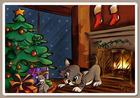 Pintando a Totins y Luly en Navidad